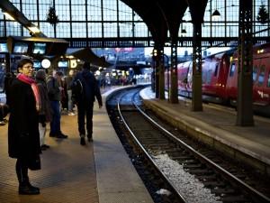 Travlhed på Københavns Banegård på dagen hvor DSB aflyser halvdelen af deres tog pga. strejke.